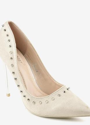 Бежеві туфлі на шпильці nf-04