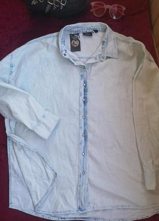 Джинсовая рубашка оверсайз батал esmara42/44/16