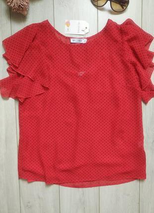 Шифоновая блуза с шифоновой маечкой