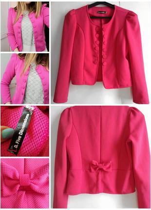 Пиджак жакет женский розовый короткий