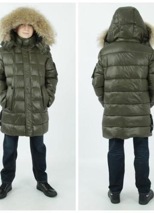 Зимняя куртка полу-пальто для мальчик анернуо anernuo