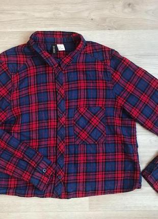 Кроп топ рубашка в клеточку /рубашка топ