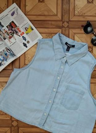 Коттоновая укороченная рубашка jennyfer