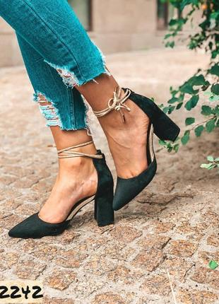 Стильные туфли лодочки на завязках с 36-40