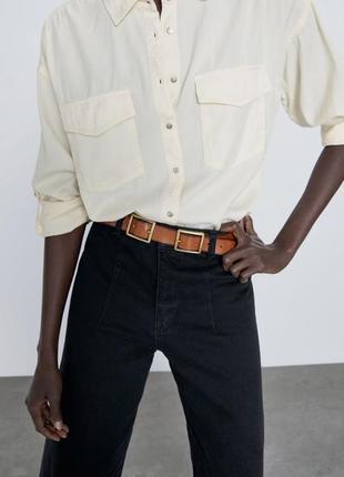 Шикарная рубашка с карманами zara