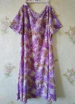 Женское лёгкое платье большого размера # платье миди # charmance