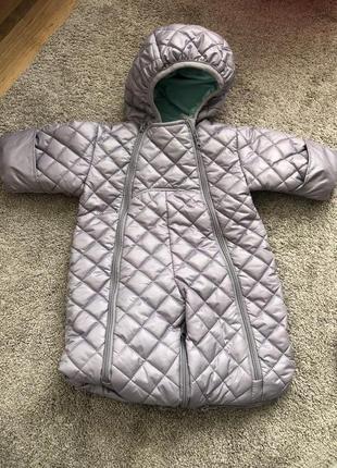 Комбинезон, спальный мешок для новорожденных, зима, деми