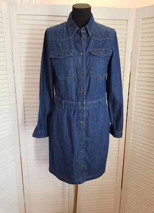 Синее джинсовое платье marc o polo