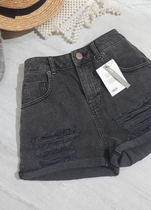 Шорты от asos/шорты с высокой посадкой. джинсовые шорты/серые шорты. рваные шорты