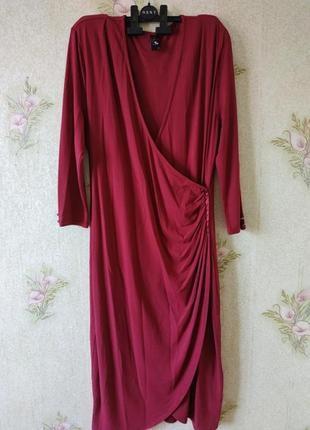 Новое платье миди большой размер # платье на запах # tu