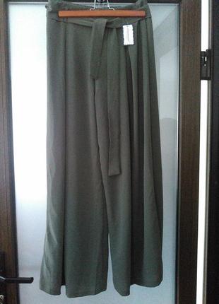 Брюки палаццо штаны кюлоты широкие брюки италия высокая посадка