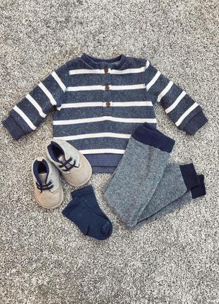 Светр, свитер, кліта теплая, newborn 50-56