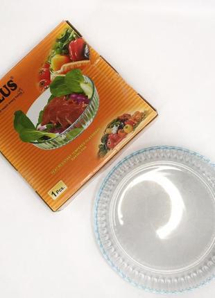 Скляна кругла форма для випічки