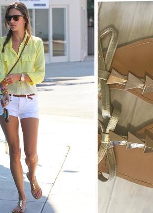 Victoria's secret t strap flat sandals gorgeous new look сандали босоножки