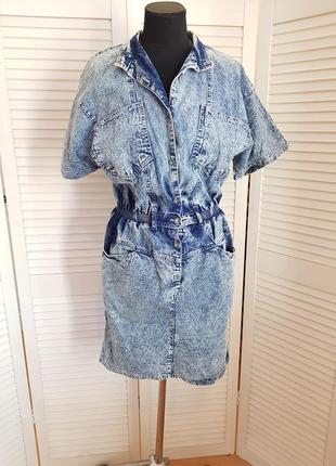 Стильное джинсовое платье millesime