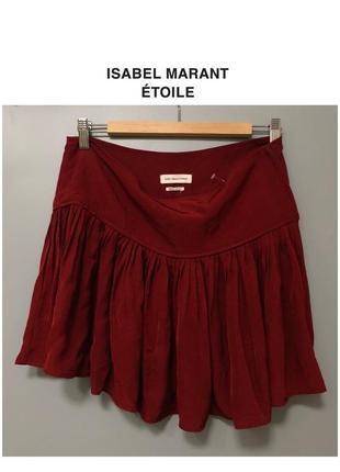 Isabel marant étoile короткая юбка бургунди плиссированная мини-юбка плиссе