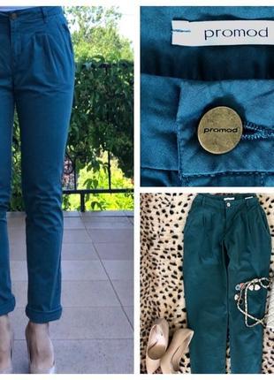 Хлопковые брюки галифе promod оригинал