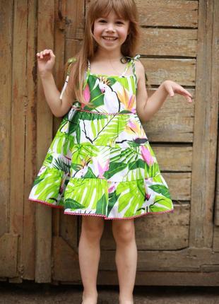 Детский сарафан цветочные принт,платье для малышки,сарафан с бретельками для девочки