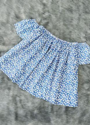 Хлопковая кофточка блуза топ на плечи