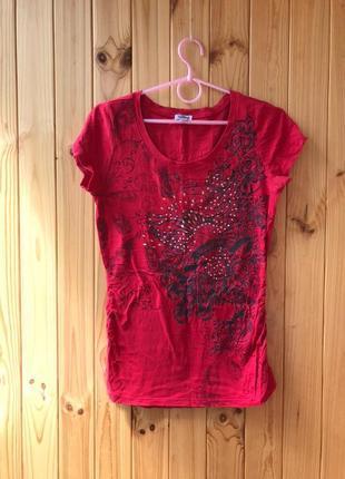 Женская футболка   красная футболка с рисунком