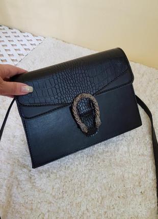 Стильная сумка- клатч с комбинированной вставкой