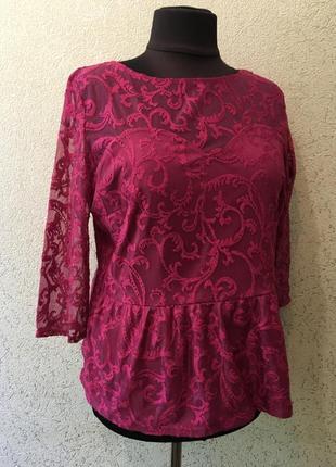 Ажурная нарядная батальная блуза/женская блузка/блузочка