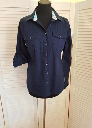 Синяя блуза рубашка tommy hilfiger