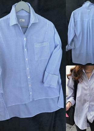 Хлопковая рубашка hollister xs/s/m