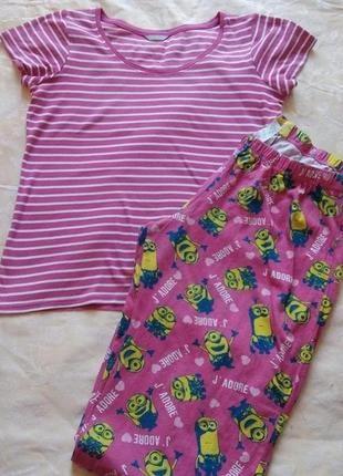 Женская пижама костюм для дома сна большой размер