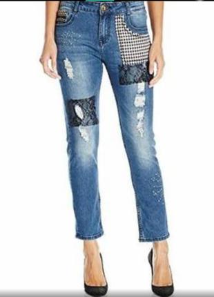 Стильные джинсы 3/4 desigual