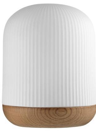 Лампа ночник , стильная , белая с деревом