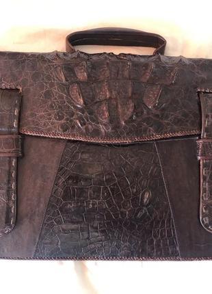 Портфель из 100% кожи крокодила