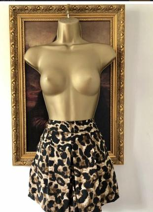 Новые шортики юбка athmosphere by primark леопард как zara