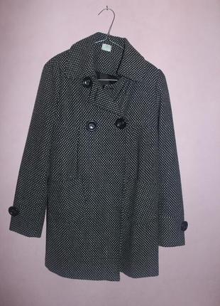 Пальто шерсть полиестер акрил демисезонное