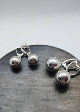 Срібні сережки (серебро, срібло, серьги) 925 проба.