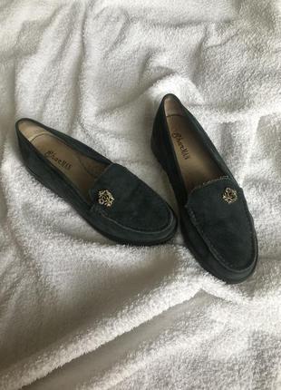 Туфли натуральный замш👡
