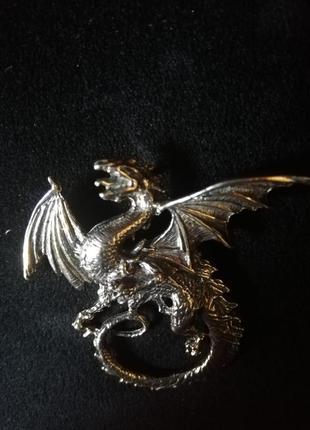 Серебряный дракон подвеска кулон