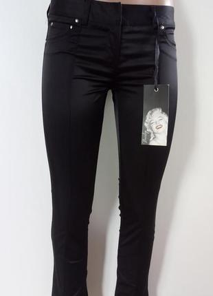 Чорні класичні атласні брюки(черные классические атласные брюки)