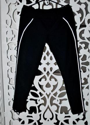 Лосины xl спортивные теплые плотные качественные велосипедки  черные спорт