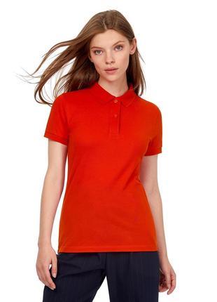 Красная базовая однотонная футболка поло 100% хлопок размеры