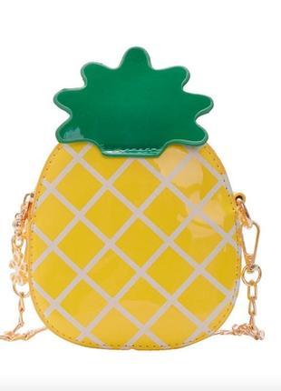 Сумочка- ананас на цепочке