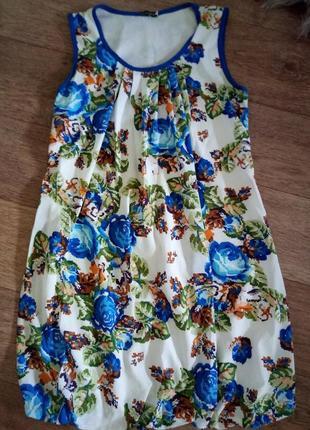 Шифоновое платье вышиванка для будущей мамы