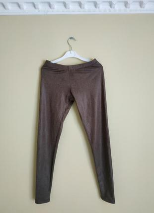 Лосины брюки принт коричневые кофейные спорт