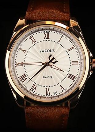 Люксовые мужские часы с коричневым ремешком код 293