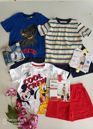 Яркие котоновие комплекти пижами от немецкого бренда lupilu 86/92
