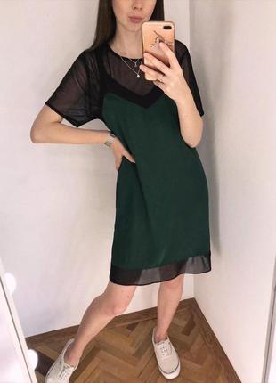 Неймовірна смарагдова сукня «двійка» topshop
