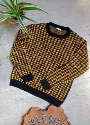 Теплый джемпер свитер вискоза-шерсть