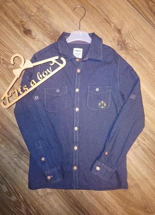 Рубашка джинс, короткий рукав для мальчика primigi