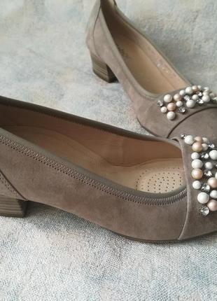 Туфли лодочки,туфли с жемчужинами,туфлі замшеві,туфлі ортопедичні,туфли gabor