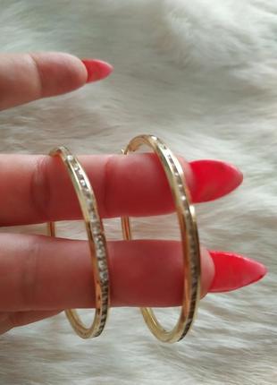 Серьги кольца золото